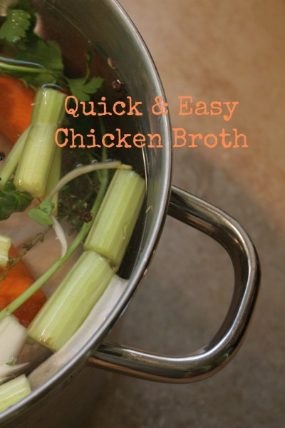 Quick and Easy Chicken Broth